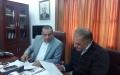 بلدية قفين توقع اتفاقيه مشروع تاهيل طرق داخليه